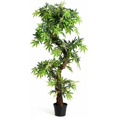 Planta Artificial 160 Centímetros Árbol Planta Verde Decoración Interior para Hogar Oficina