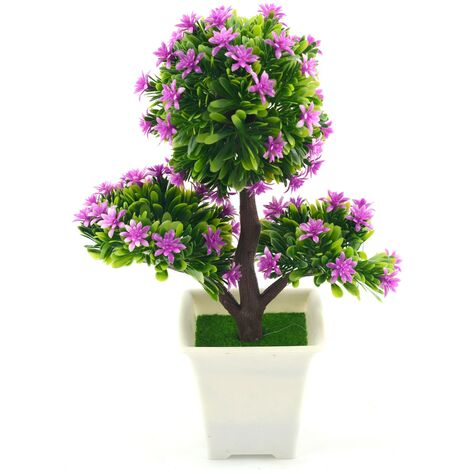 Planta artificial (17x25,5 cm) Bonsái Violeta
