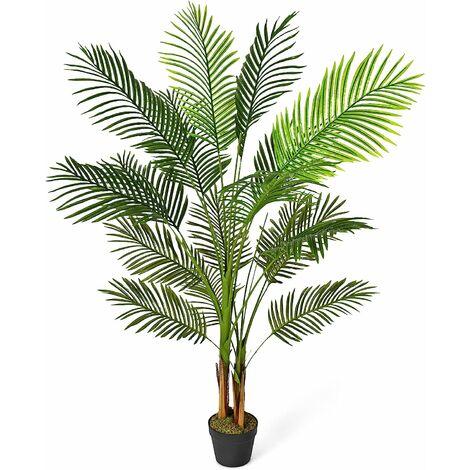 Planta Artificial Altura de 150 cm Palmera Artificial con Maceta Realísticas Planta Árbol Artificial para Oficina Hogar Decoración
