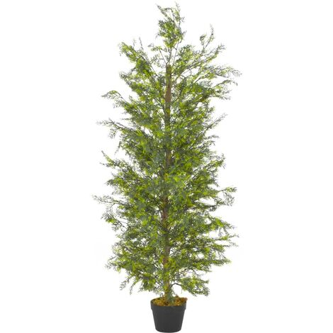 Planta artificial árbol ciprés con macetero 150 cm verde