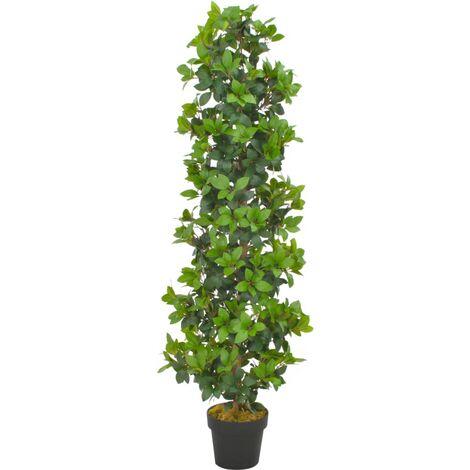 Planta artificial árbol de laurel con macetero 150 cm verde