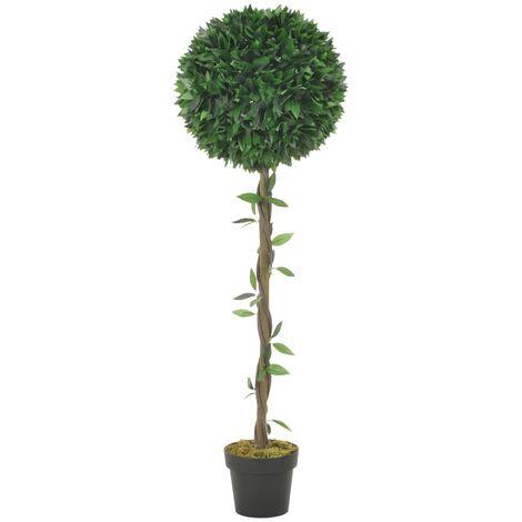 Planta artificial árbol de laurel con macetero verde 130 cm