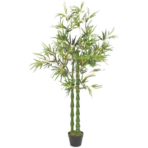Planta artificial bambú con macetero 160 cm verde - Multicolor