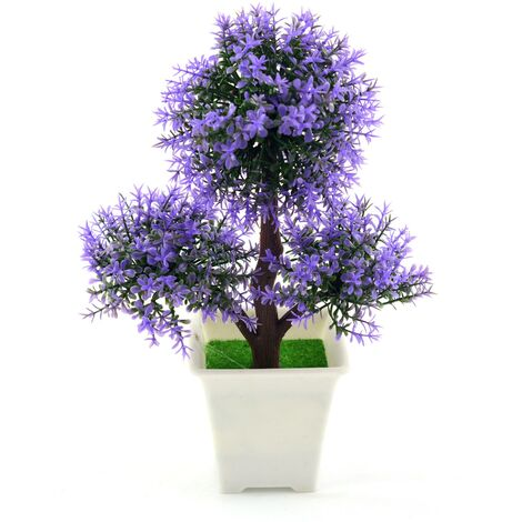 Planta artificial con maceta (17x25 cm) Bonsái Morado