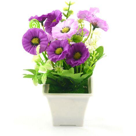 Planta artificial con maceta (9x18 cm) Violeta