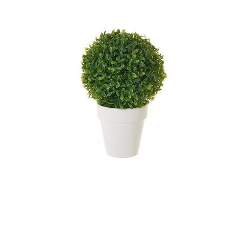 Planta artificial con maceta verde de plástico de Ø 15x25 cm