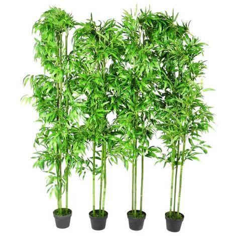 Planta artificial de bambú set de 4 unidades 190 cm - Verde