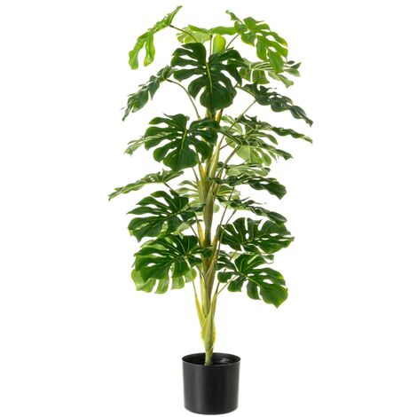 Planta artificial de Monstera verde de polietileno, de ø 45x100 cm
