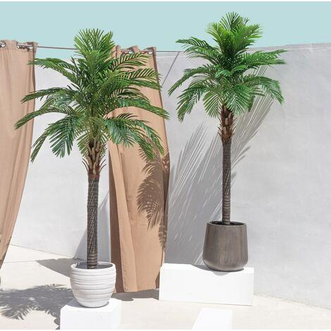 Planta artificial de palmera datilera verde de 220 cm
