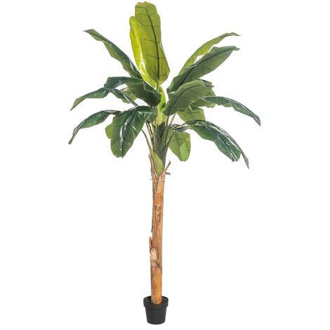 Planta artificial de palmera platanera o banano verde de 240 cm