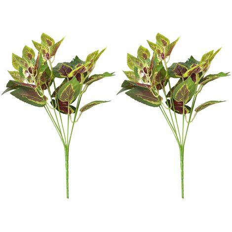 Planta Artificial de Ramas de Hiedra Roja para Jardín Vertical Dos Unidades Hogar y Más