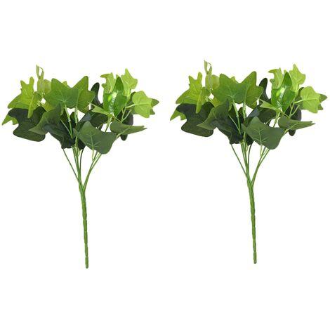 Planta Artificial de Ramas de Hiedra Verde para Jardín Vertical Dos Unidades Hogar y Más