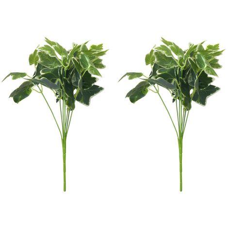 Planta Artificial de Ramas de Hiedra Verde y Blanca para Jardín Vertical Dos Unidades Hogar y Más