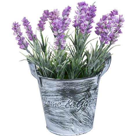 Planta Artificial Decorativa, Macetero Vintage de Metal Home & Garden, Decoración Hogar y Jardín