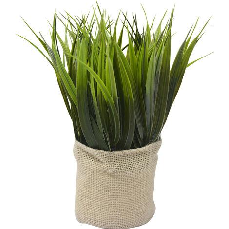 Planta Artificial Decorativa para Interior, Decoración de Plantas Originales con Saco de Yute 25x9 cm Modelo - A