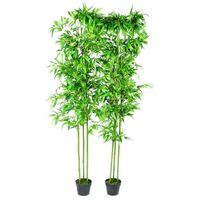 Planta artificial en maceta, bambú, 2 unidades, 190 cm