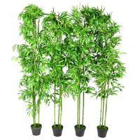 Planta artificial en maceta, bambu, 4 unidades, 190 cm (no se puede enviar a Baleares)