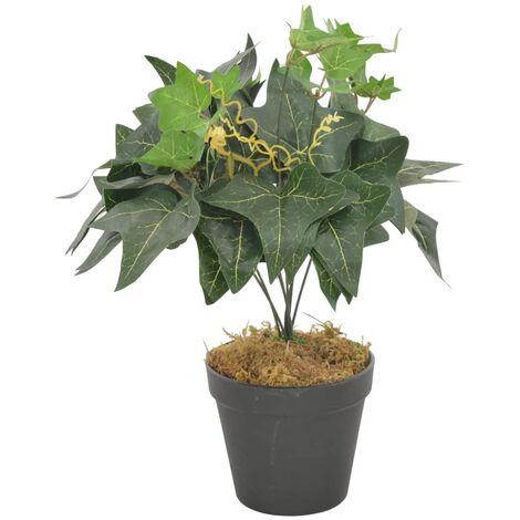 Planta artificial hojas yedra con macetero verde 45 cm