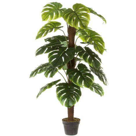 Planta artificial monstera verde PVC de 130 cm