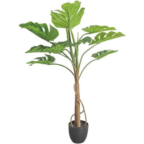 Planta artificial monstera verde PVC para exterior de 100 cm