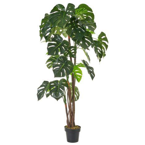 Planta artificial montera con maceta verde de plástico PE de 170 cm