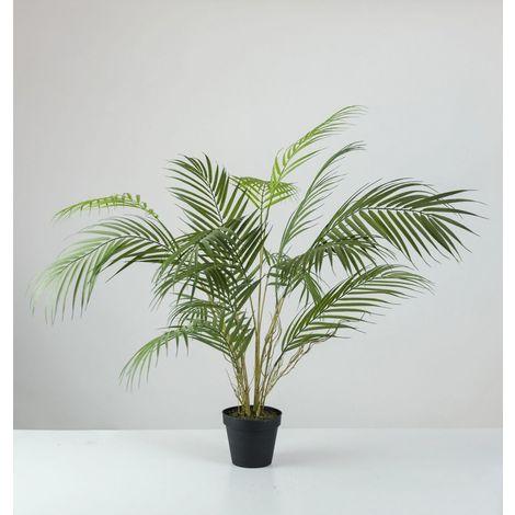 Planta artificial. PALMERA ARECA EN MACETA X 15 HOJAS. 68 cm. HD. Alto realismo. Tacto natural.