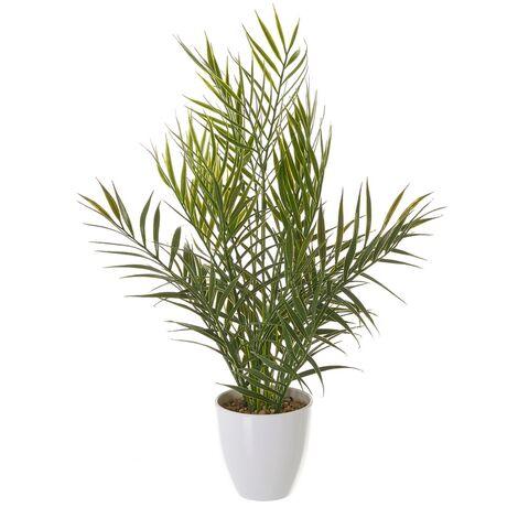Planta artificial palmera verde de plástico de Ø 20x42 cm