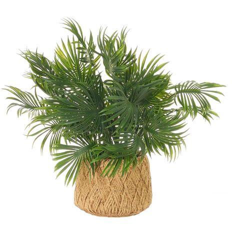 Planta artificial palmera verde de plástico de Ø 23x31 cm