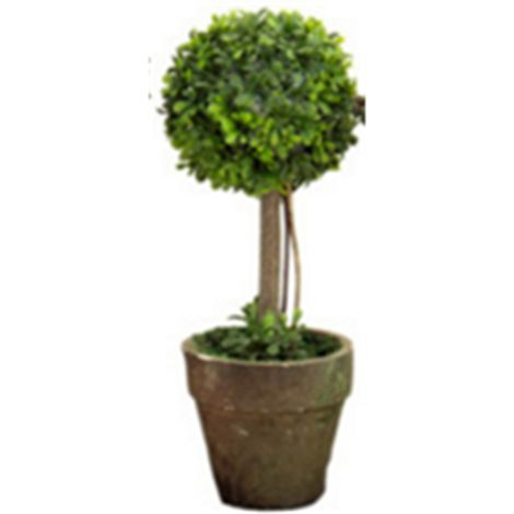 Planta artificial topiario árbol decoración exterior arbusto con maceta Sasicare