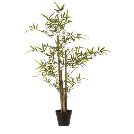 Planta artificial verde bambú y poliéster de 100 cm