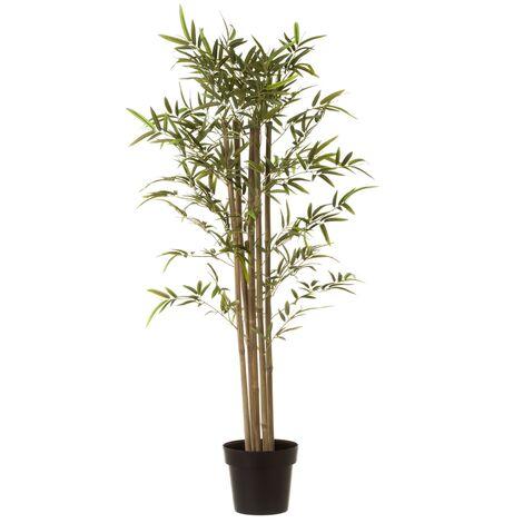 Planta artificial verde bambú y poliéster de 120 cm