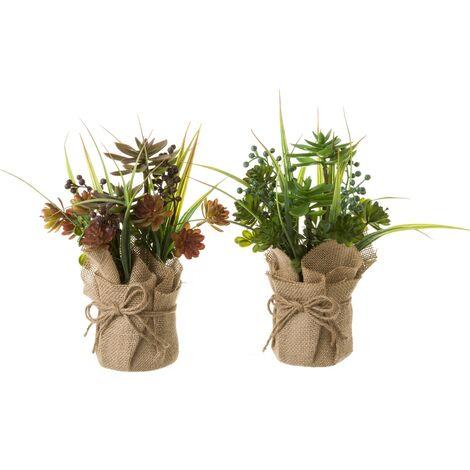 Planta artificial verde tela de 26x9x9 cm. Compra mínima 2 unid
