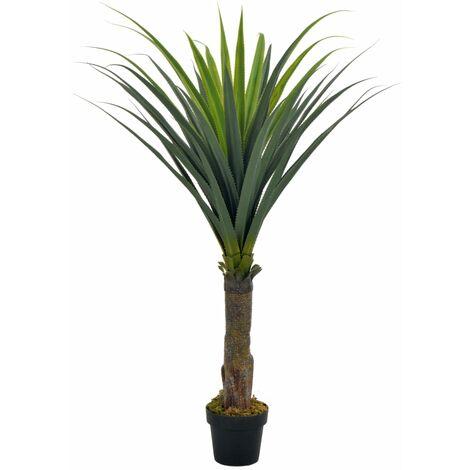 Planta artificial yuca con macetero verde 145 cm
