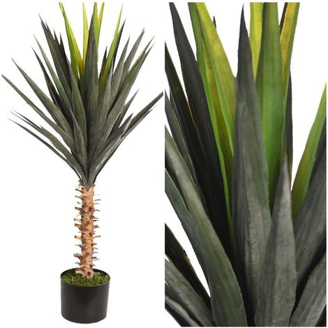 Planta Cactus Crasa Agave artificial. Incluye maceta. Realista. Altura 95 cm