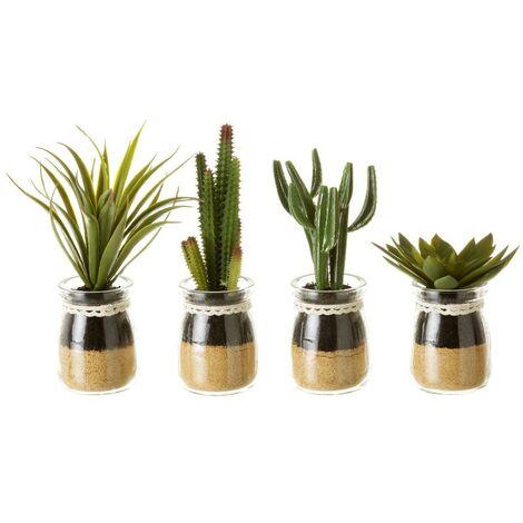 Planta Cactus PVC Set de cuatro unidades