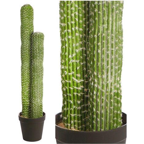 Planta Cactus Saguaro Artificial con Maceta. Realista. Altura 135 Cm