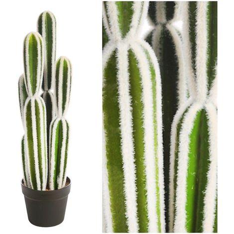 Planta Cactus San Pedro artificial con maceta. Realista. Altura 64 Cm