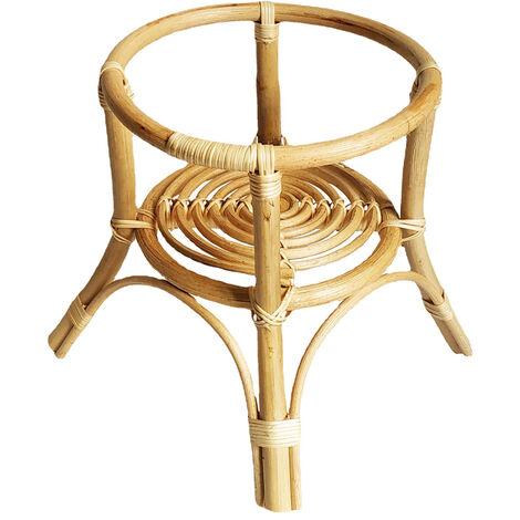 Planta cubierta natural tejida mano rota Tiesto Tiesto soporte titular del hogar herramienta de la decoracion de interiores jardineria, Tipo A