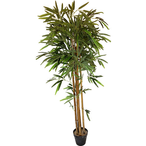 Planta de bambú artificial de 130 cm de altura con maceta