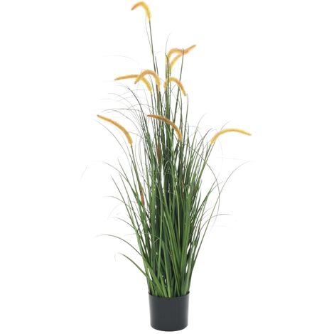 Planta de hierba artificial con espadaña 135 cm
