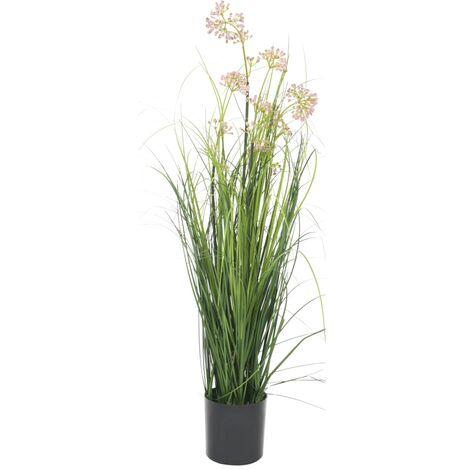 Planta de hierba artificial con flor 75 cm