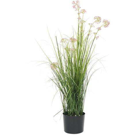 Planta de hierba artificial con flor 95 cm
