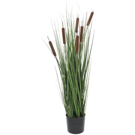 Planta de hierba artificial con junco 85 cm