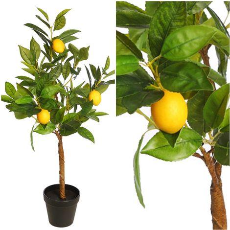 Planta de Limonero Artificial. Realista. 70 Cm