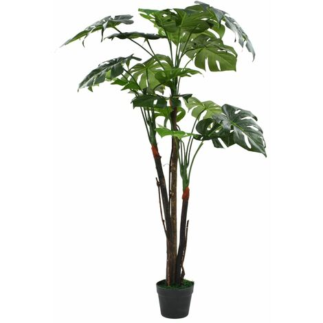 Planta de monstera artificial con maceta 130 cm verde