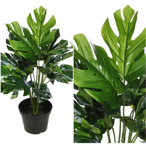 Planta de Monstera Artificial. Tacto Natural. 45 Cm