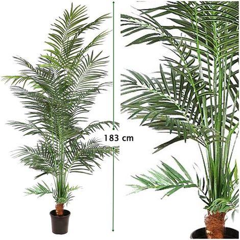 Planta de Palmera Areca Artificial en Maceta. Altura 183 Cm