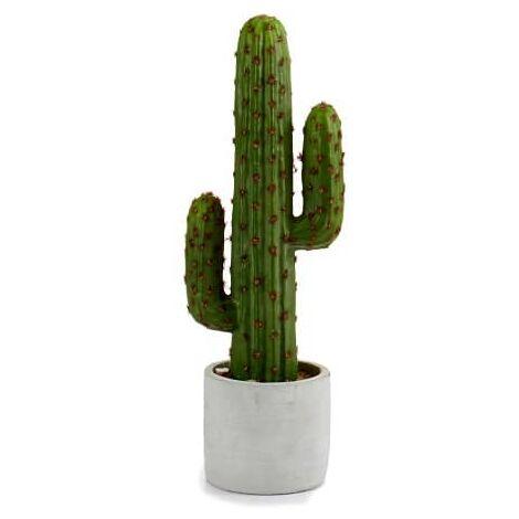 """main image of """"Planta de plastico cactus recto tronco 37 cm Verde"""""""