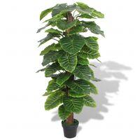 Planta de taro artificial con maceta 145 cm verde