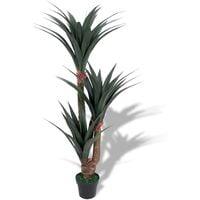 Planta de yuca artificial con macetero 155 cm verde